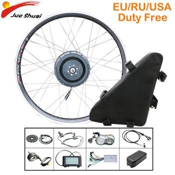 48V 500W potente Kit de conversión de Bicicleta eléctrica 43 km/h Motor...