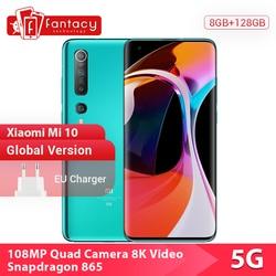 "New Arrival Global Version Xiaomi Mi 10 8GB 128GB 5G Snapdragon 865 Octa Core 108MP Quad Camera 6.67""AMOLED Mi10 Mobile Phone 1"