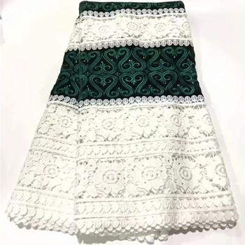Green African Lace Fabric High Quality French Tulle Lace Fabric 2020 Nigerian Mesh Laces Embroidery Fabric For Wedding