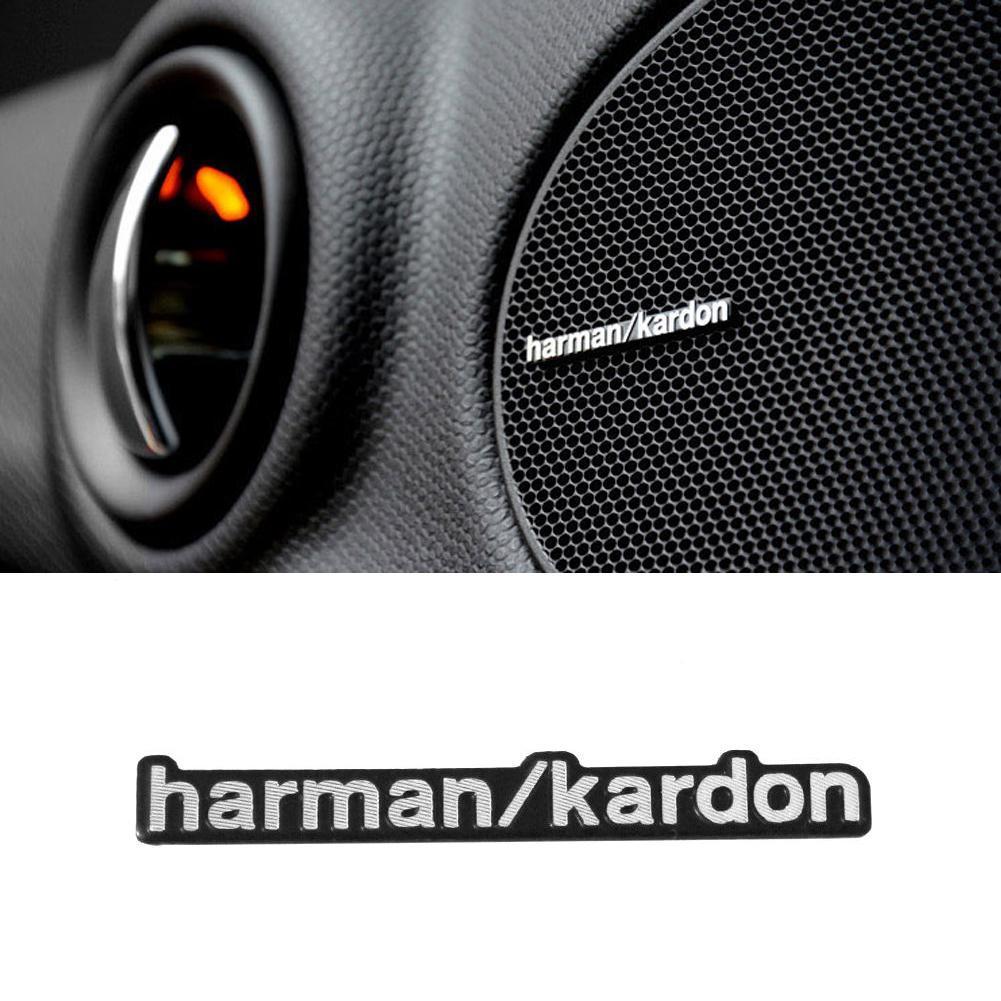 4Pcs 3D Aluminum Harman/kardon Logo Hi-Fi Car Speaker Audio Speaker Badge Emblem With 2 Pins New Arrival