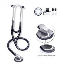 Estetoscopio médico profesional, estetoscopio médico para cardiología de los pulmones, estetoscopio de una sola cabeza, dispositivo de equipamiento médico