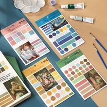 Mohamm 6Pcs Volga's Manor Series DIY Decoration Oil Painting Sticker Creative Scrapbooking Stationary School Supplies