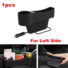 цена на Car interior accessories Left Universal Pair Passenger Driver Side Car Seat Gap Storage Box for Pocket Organizer Phone Holders