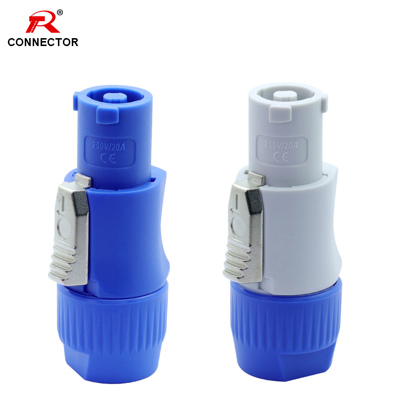 1pc PowerCon Connector NAC3FCA NAC3FCB 20A AC Cable Connector 250V Powercon 3 Pin Speaker Chassis Adapter Powercon Male Plug