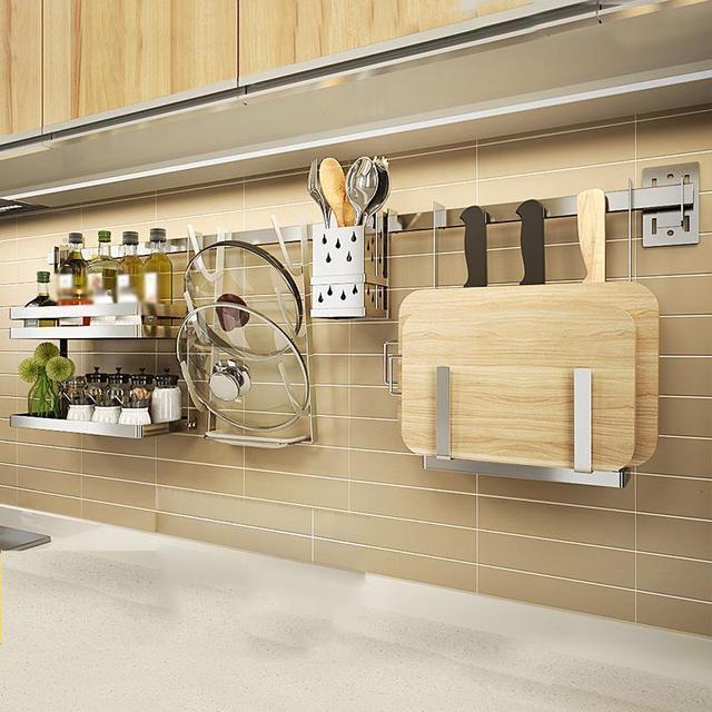 Rangement organisation egouttoir à vaisselle organisador Cocina acier inoxydable Cozinha accessoires de Cuisine Rangement Cuisine support étagères 5