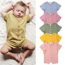 2020 New Summer Baby Rompers Short Sleeve Cotton O-Neck