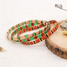 Go2boho – Bracelet de perles de verre pour femmes, bijoux à la mode japonais Tila, perles Pulsera Miyuki extensibles, cadeau