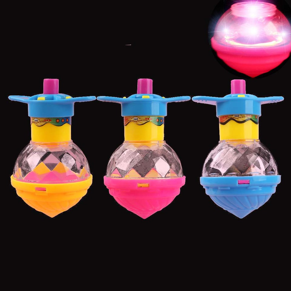 Colorful Kid/'s Toy Spinning Top Classic Funny Flash Glowing Gifts Color Random