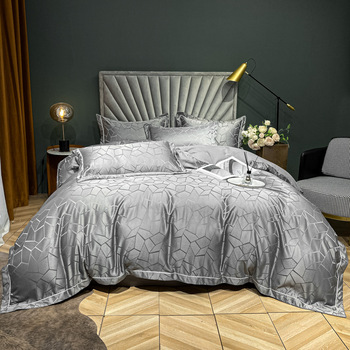 European style Cotton Satin Jacquard Bed sheet Duvet cover bed linings Queen King fitted sheet bedding set mattress cover лосева н занимательная зоология я лось