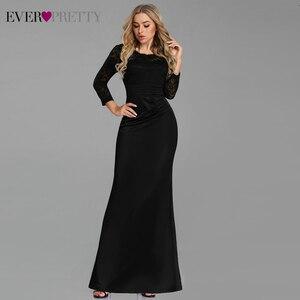 Image 4 - ערב שמלות ארוך פעם די ארוך שרוול חורף O צוואר תחרה בת ים סקסי אירוע מיוחד מסיבת שמלות לאורחי חתונה