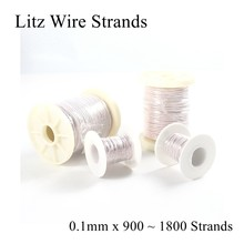0.1 Mm 900 1000 1200 1300 1500 1600 1800 Strand Litz Untai Kawat Kristal Mikro Antena Perak Headphone Earphone Kabel DIY 0.1(China)