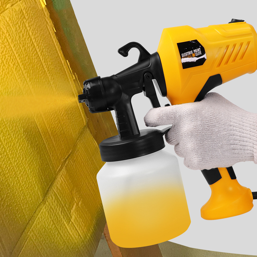 EU  High-voltage Electric Spray Gun 220V High-power Household Electric Paint Sprayer, 3 Nozzles For Easy Spraying And Cleaning