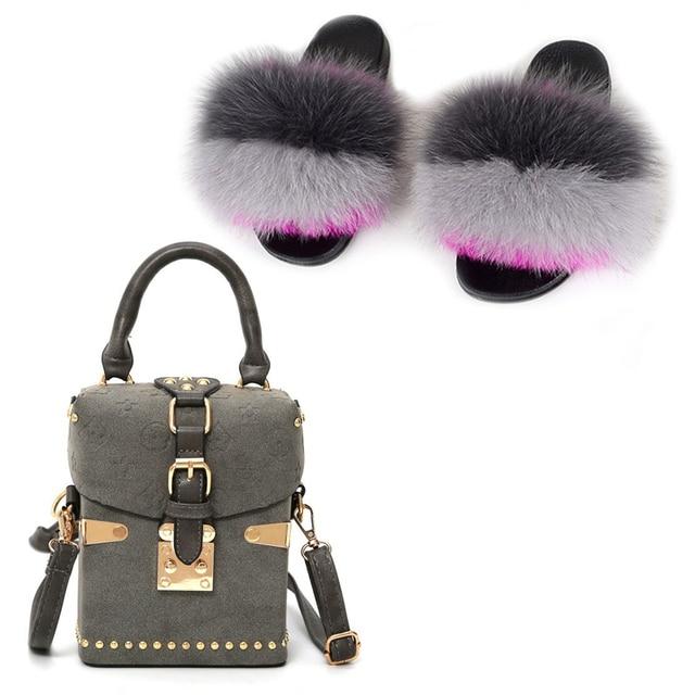 Купить шлепанцы женские шерстяные меховые тапочки маленькая сумка плюшевая картинки цена