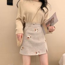 Short skirts womens 2020 kawaii Autumn winter Retr