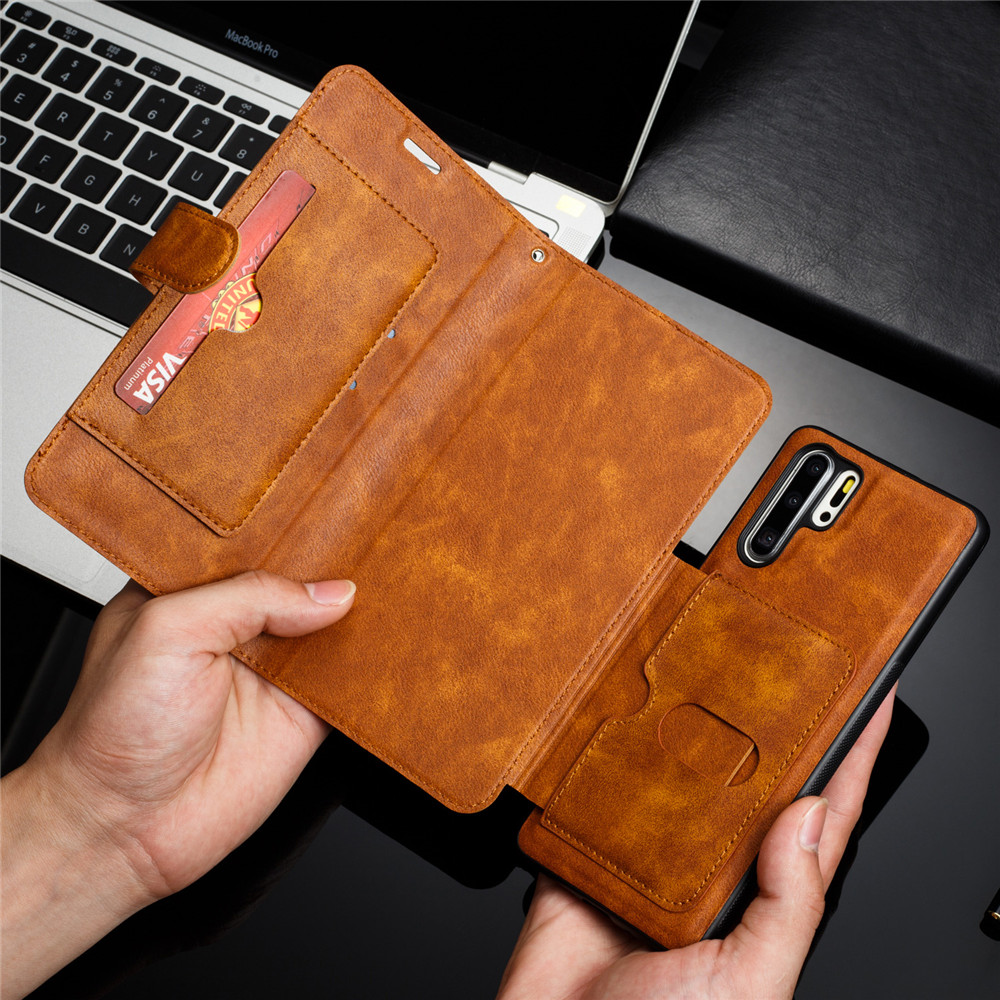 Huawei P20 Lite Case Retro PU Leather Case Huawei P20 Lite P8 P9 P10 P20 P30 Lite Pro Case Cover Detachable 2 in 1 Multi Card Wallet Phone cases13