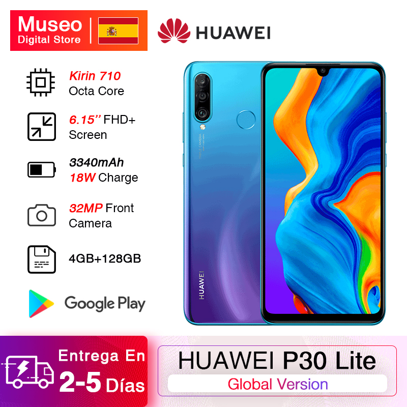 Global Version <font><b>Huawei</b></font> <font><b>P30</b></font> <font><b>Lite</b></font> 4GB 128GB <font><b>Smartphone</b></font> 6.15 inch Kirin 710 Octa Core 32MP Front Camera Android 9.0 No NFC image