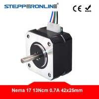 4-Lead Nema 17 Motore Passo-passo 42 Del Motore Motore Passo-passo Nema17 0.7A 25 millimetri 13Ncm (18.4oz.in) 3D Motore Della Stampante CNC Robot