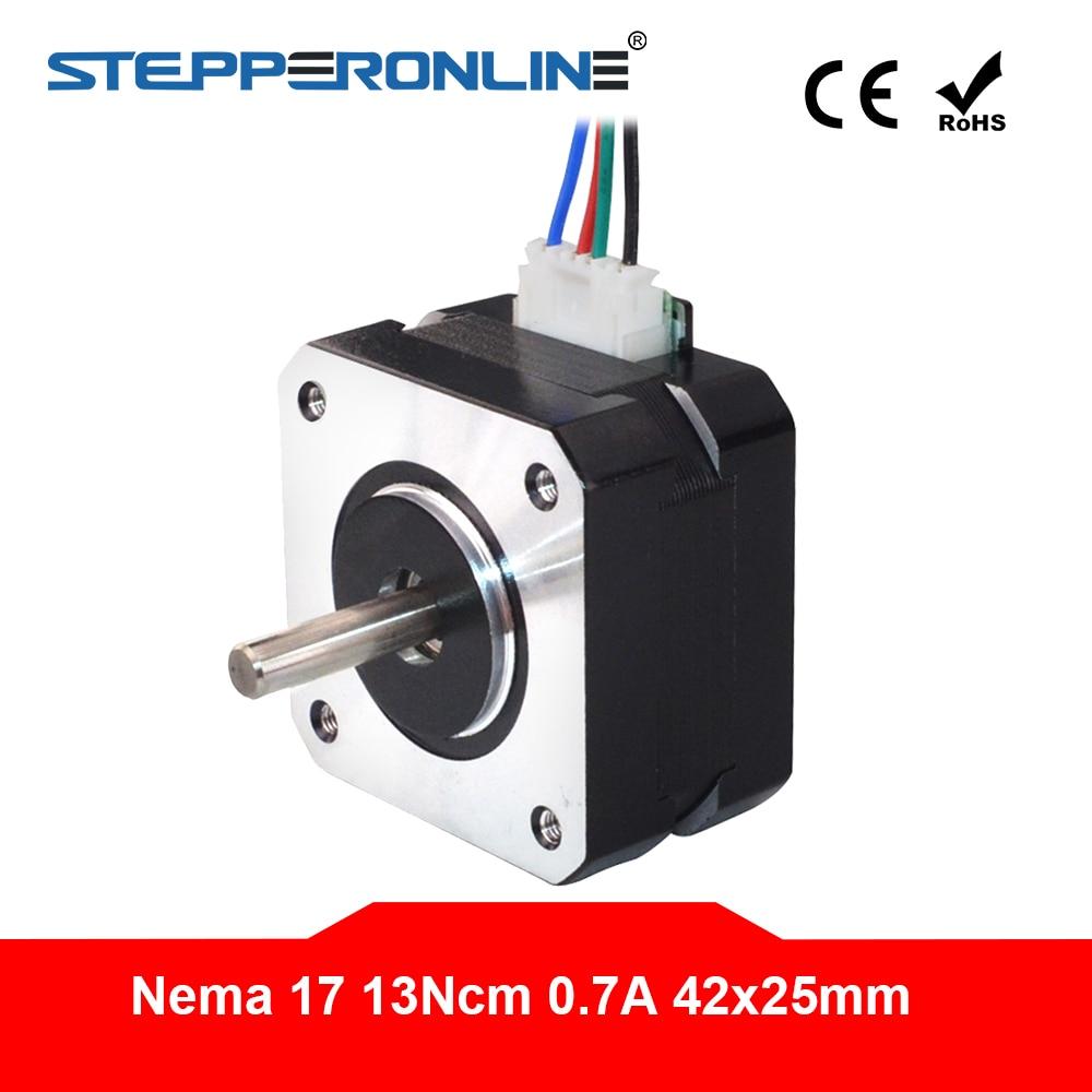 4-Lead Nema 17 Stepper Motor 42 Motor Nema17 Step Motor 0.7A 25mm 13Ncm(18.4oz.in) 3D Printer Motor CNC Robot