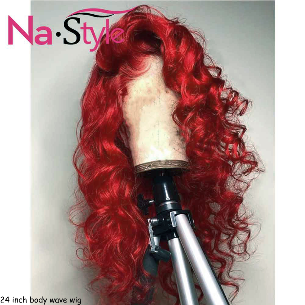Red Lace Front Human Hair Wigs Colored 99j Burgundy Lace Front Wig 13x6 Deep Part Brazilian Body Wave Wig Pre Plucked 130%
