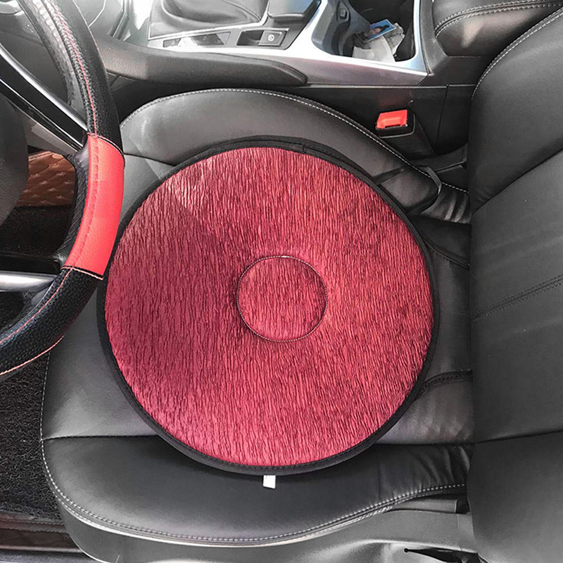 Car Seat Rotating Cushion Non-Slip Revolving Cushion Swivel Sponge Foam Chair Seat Cushions LXY9