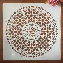 DIY Layering Mandala Stencils Embossing-Album-Decorative-Template Wall-Painting Scrapbook-Coloring