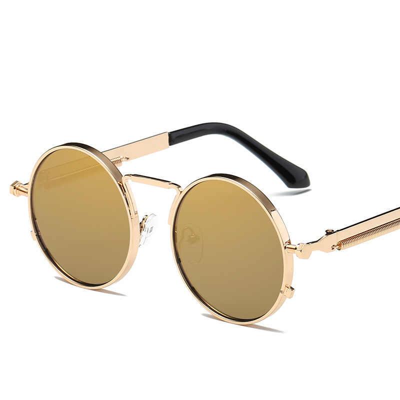 MOLNIYA VINTAGE ผู้ชายแว่นตากันแดดผู้หญิง Retro Punk รอบโลหะกรอบเลนส์แว่นตาแฟชั่น Gafas SOL mujer