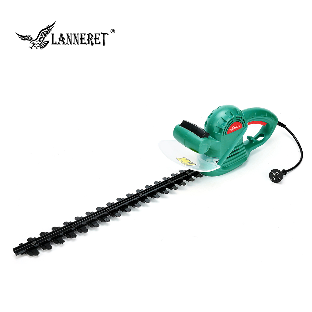 LANNERET 500W Hedge Trimmer AC Electric 510mm Grass Cutter Machine With Two-hand Safety Switch Garden Tool