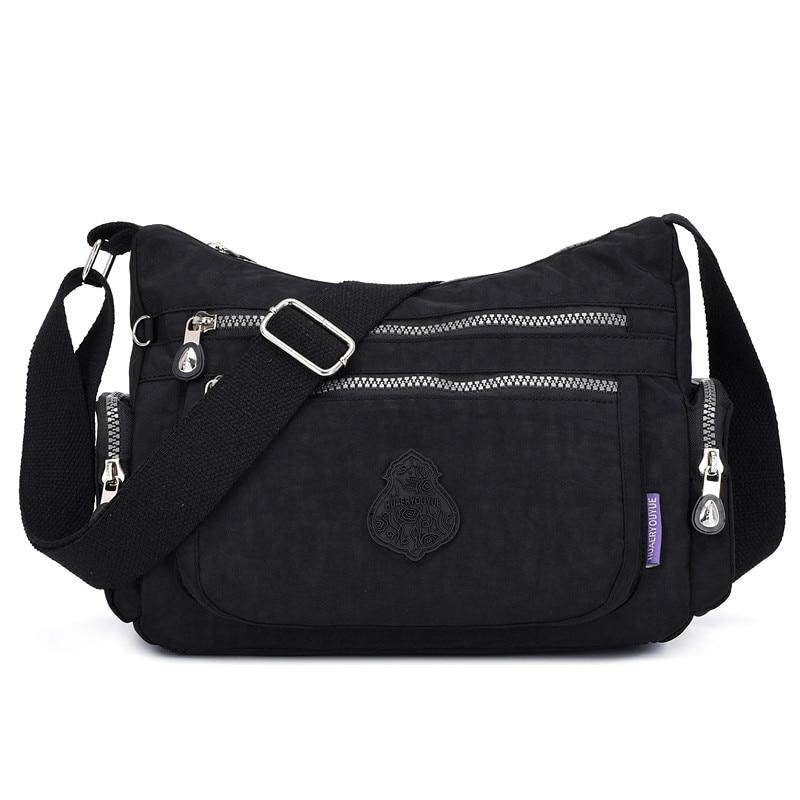 Big Capacity Waterproof Nylon Hand Bags Crossbody Bags women 2020 High Quality Wide Shoulder Strap Messenger Bags Female Purse