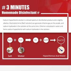 Image 4 - Machine de désinfectant de leau dacide hypochloré de 1.2L générateur hypochloré de Sodium Machine de désinfectant domestique saine