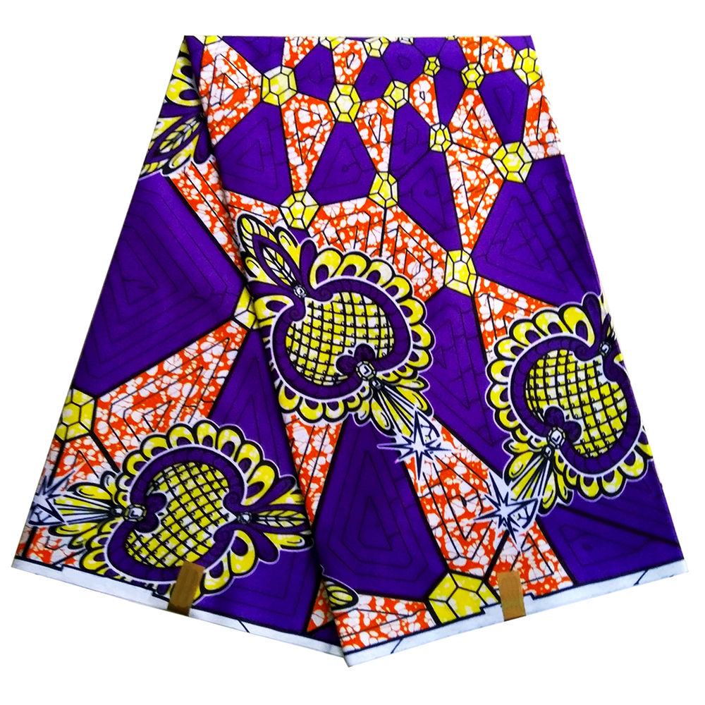 Latest African Fabric Wax Print Ankara African Veritable Real Dutch Wax 6Yards\lot