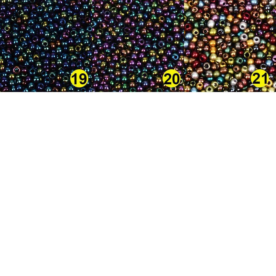 Approx.1000pcs 2 ミリメートル Matellic チャームチェコガラスビーズシードビーズジュエリーメイキングのためにブレスレットネックレス Diy アクセサリー卸売