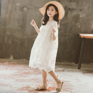 Image 2 - Kids Lace Dress New Baby Girls Dresses 2020 New Children Summer Dress Toddler Part Clothes Embroidery Floral Beautiful,#5209