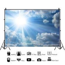 Laeacco солнце небо фон для фотосъемки с изображением в стиле
