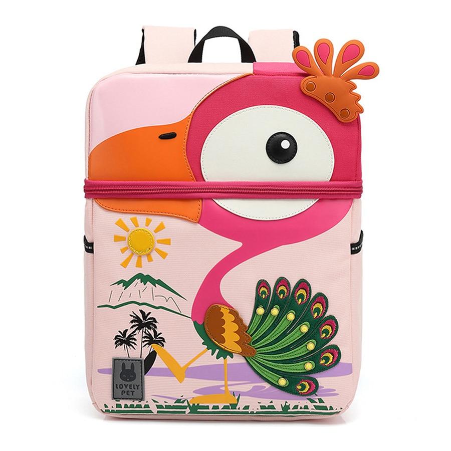 2020 New 3D Kindergarten School Bag For Kids Cartoon Peacock Model Baby Age 3-6 Children Gift Cute Anti-lost Toddler Schoolbags