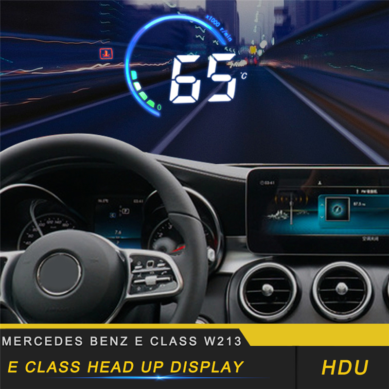 For Mercedes Benz E Class W213 2017-2019 Car HUD Head-Up Display Overspeed Warning Windshield Projector Alarm System