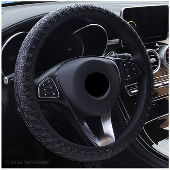 Car Steering Wheel Cover Universal Diameter 38cm Auto Steering Covers Car-Styling Auto Decoration Interior Accessories 1pcs 37 38cm diy car auto steering wheel cover suede material car steering wheel cover needle and thread interior accessories