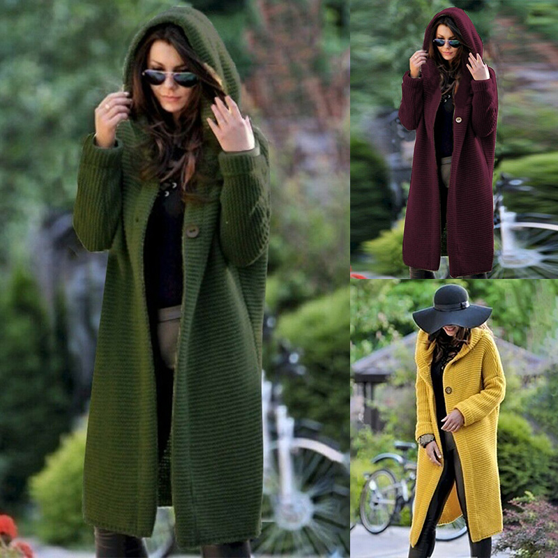 Loose Knitted Cardigan Sweater  Women Open Stitch Long Sleeve Sweater Casual Outwear 2020 Autumn Fashion Plus Size Coat