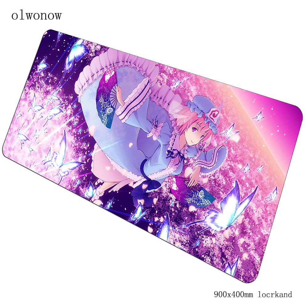Touhou Mousepad 900x400x3mm Gaming Mouse Pad Adorable Gamer Mat Computer Desk Padmouse Keyboard Christmas Gifts Play Mats