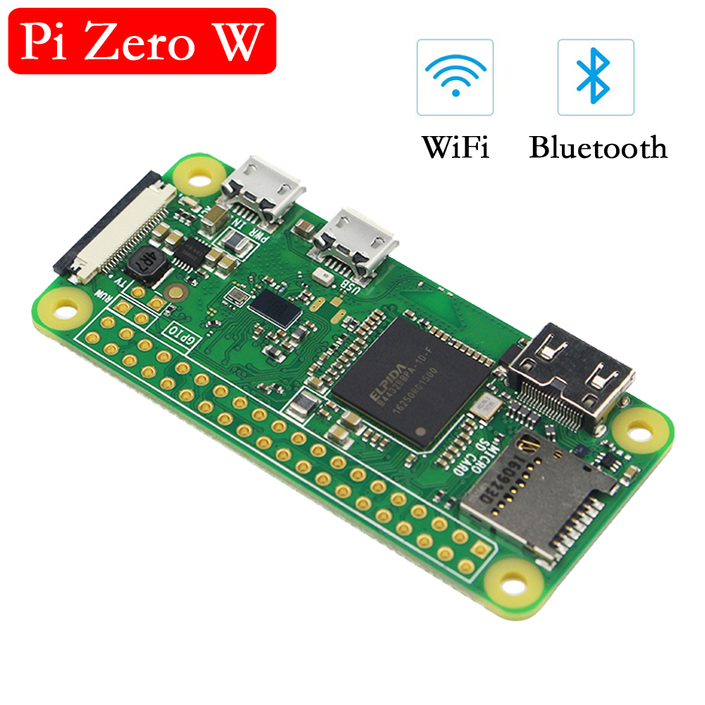 Original Raspberry Pi Zero W Board 1GHz CPU 512MB RAM With Built-in WI-FI & Bluetooth RPI 0 W