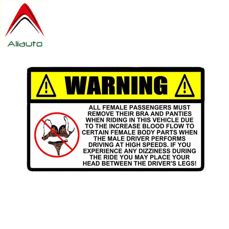 Aliauto Funny Car Sticker <font><b>Accessories</b></font> Warning <font><b>Sexy</b></font> No BRA & PANTIES Windows Decal for Volkswagn Polo Golf 16cm*9cm image