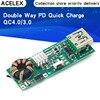 Circuit imprimé de Charge rapide PD Double sens QC4.0 QC3.0 3.7V à 5V 9V 4,5a 18W type-c USB Boost