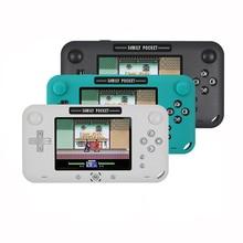 ريترو محمول صغير كلاسيكي وحدة تحكم بجهاز لعب محمول 8 بت 4.0 بوصة اللون الاطفال لون لعبة لاعب المدمج في 208 ألعاب
