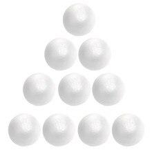 10 pçs decoração de natal modelagem artesanato sólido bolas de espuma de poliestireno esferas redondas 4/6/7/8cm bolas de natal
