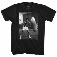 Muhammad Ali Punching Bag Black Adult T-Shirt(China)