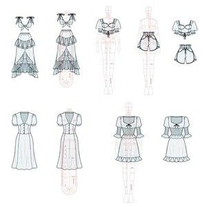 Image 3 - Frauen Mode Design Lineal Frauen Tuch Original Menschlichen Körper Modell Weibliche Figur Vorlage Herrscher Geeignet für A4 Papier Design
