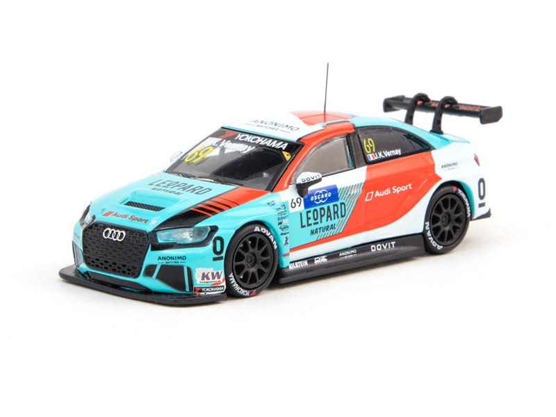 Tarmac Works 1:64 RS 3 LMS WTCR 2018 Jean Karl Vernay Racing Diecast Model Car