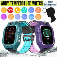 Smart Watch for Kids GPRS Tracker Touch Screen Waterproof Temperature Measurement Smart Watch Support Android/iOS
