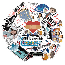 50PCS Classic American Drama Grey's Anatomy Stickers for Luggage Suitcase Laptop Car Phone PVC Decal Pegatina Gift