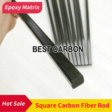 Free shipping 500mm length Pultruded Square Solid Carbon Fiber Rod ,CFR rods