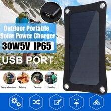 30W Di Động Năng Lượng Mặt Trời + 10/20/30/50A Bộ Điều Khiển 5V Pin Năng Lượng Mặt Trời Chống Nước USB cổng Sạc Điện Di Động Ngân Hàng cho Pin Điện Thoại